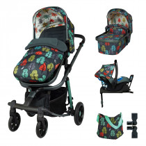 Промопакет Cosatto Giggle Quad Hare Wood 3в1 + i-Size база и чувалче за крака